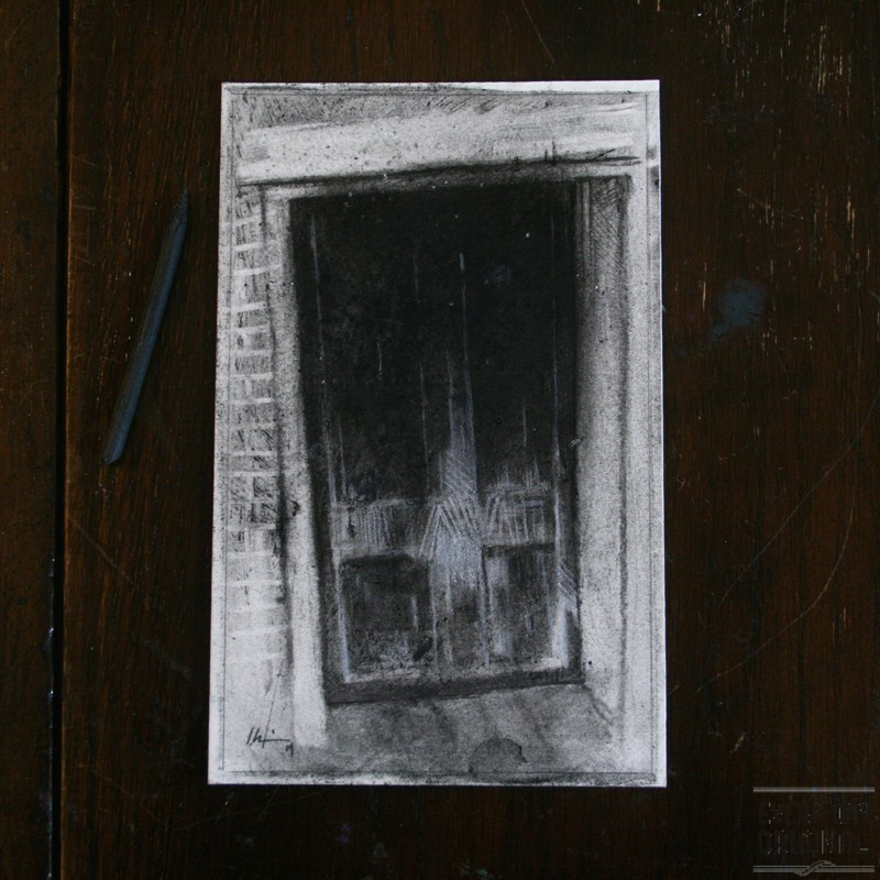 horror, jekyll, hyde, drawing, charcoal, chalk