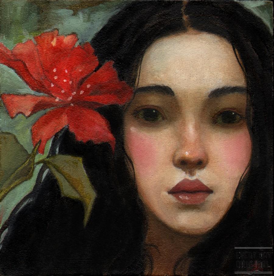 Red Flower by Kim Kincaid