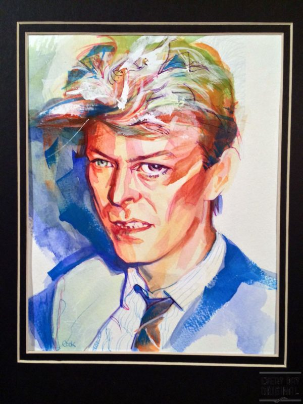 Portrait of David Bowie, artwork by Bud Cook