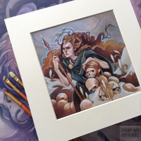 Boudica - original oil painting by Wylie Beckert