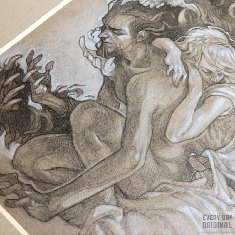 Tam Lin original drawing by Wylie Beckert