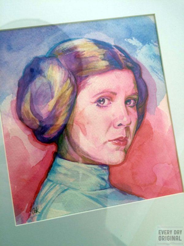 Portrait of Princess Leia Organa, artwork by Bud Cook