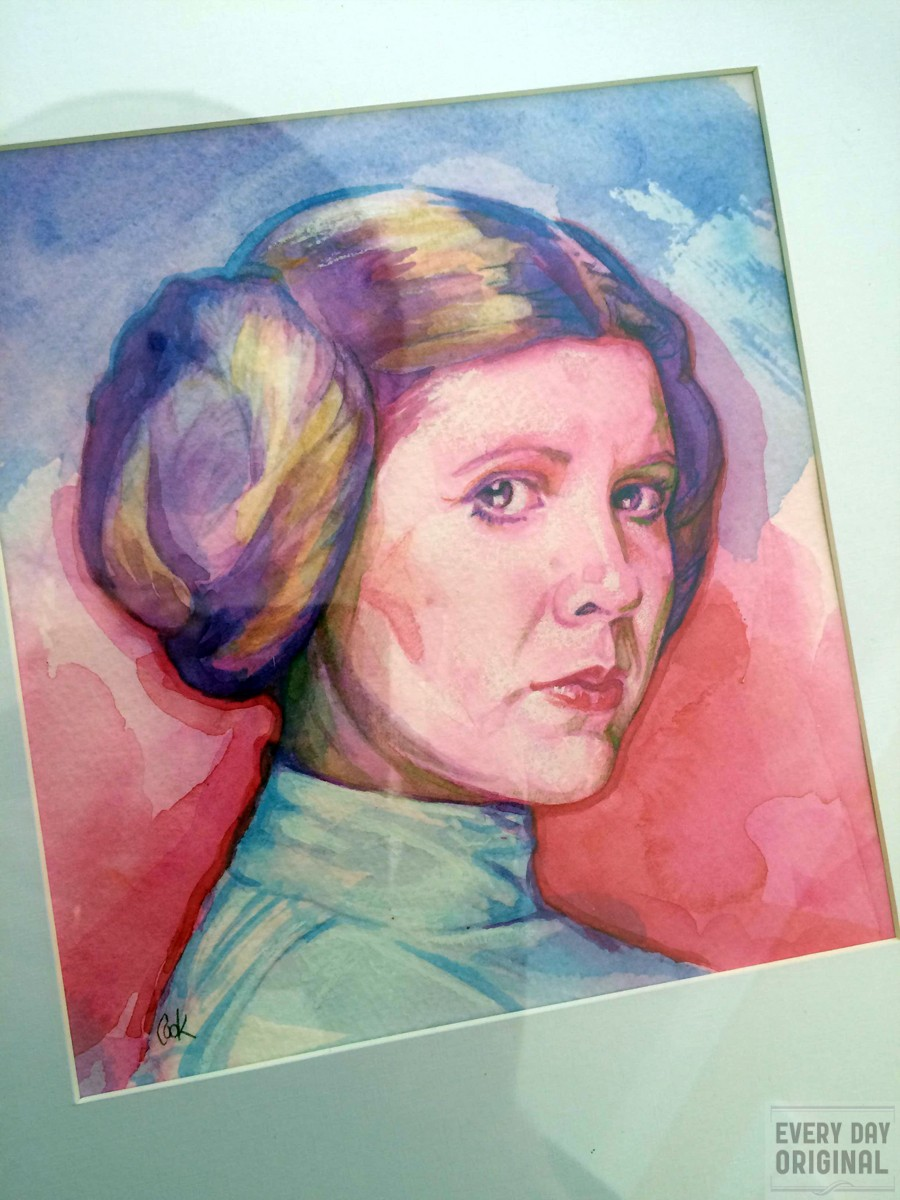 Portrait of Princess Leia Organa, artwork by Bud Cook
