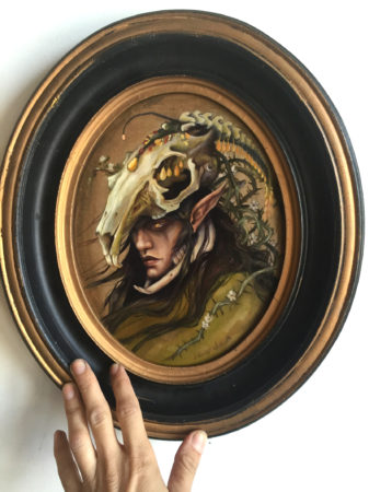 The Briar Elf, Oval Painting