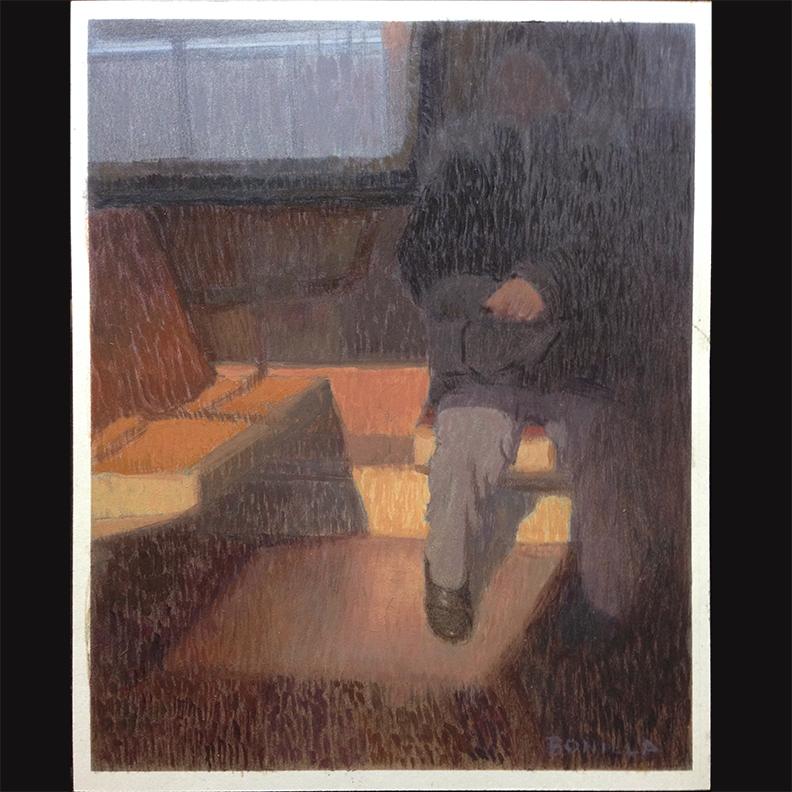 "Study For ""LIberty Ave #3"" by Ray Bonilla"