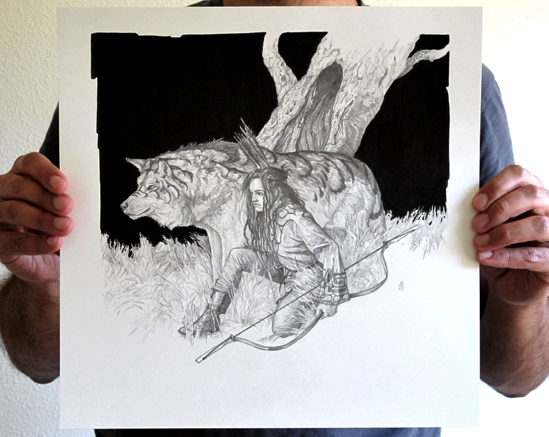 A drawing by Randy Gallegos
