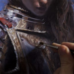 portraitofyoungwomaninarmor2detail