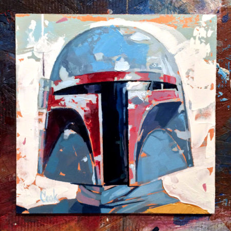 Boba Fett original art by Bud Cook