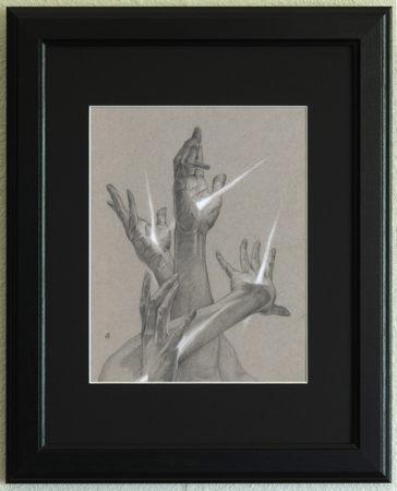 Synestauromai, framed