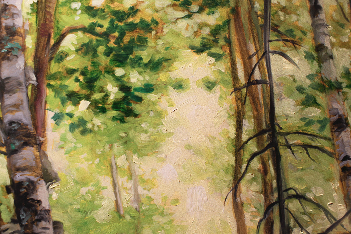 Oil painting detail