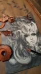 Allen Williams Black Lotus graphite art