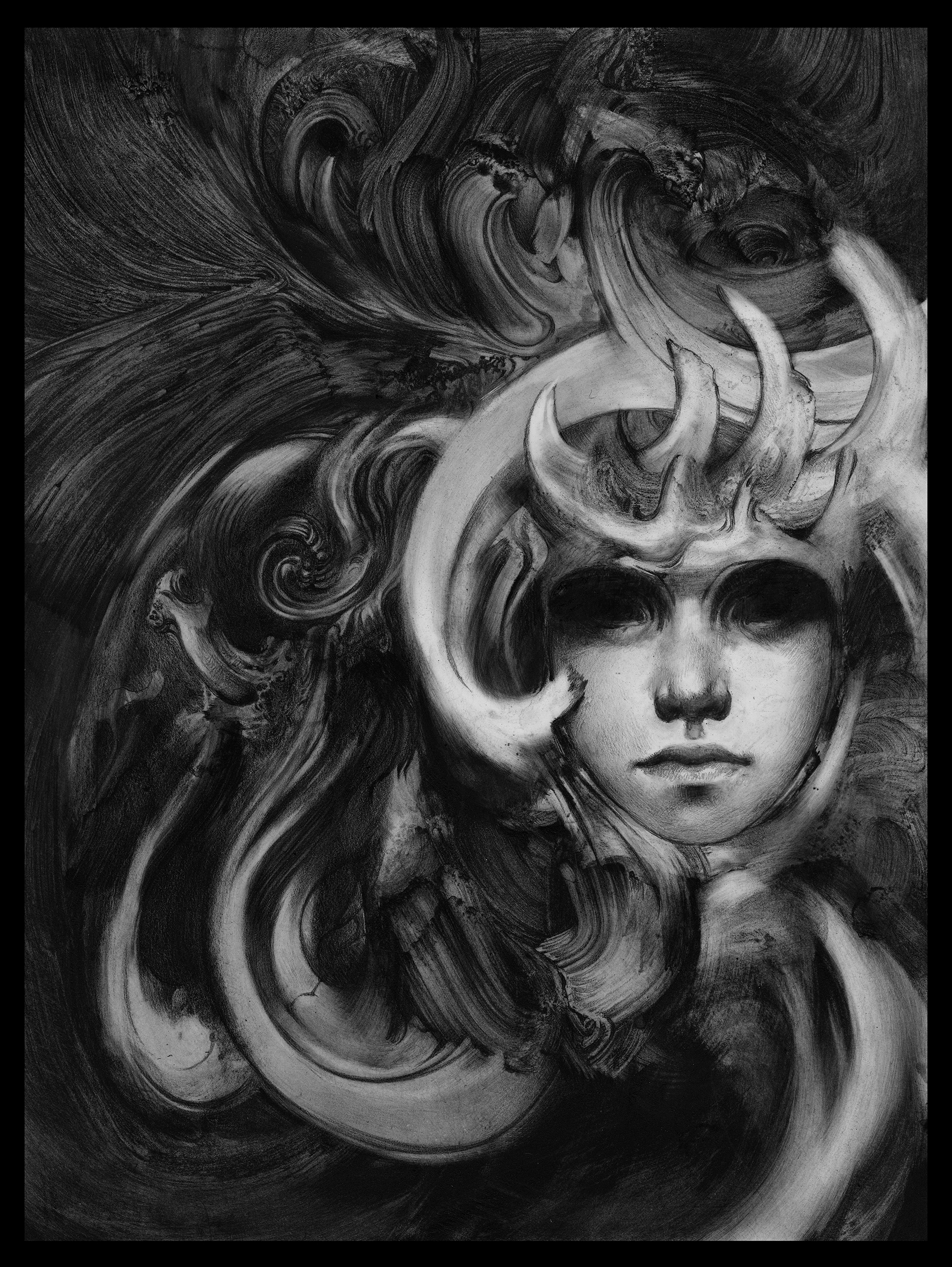 Allen Williams Black Lotus graphite art