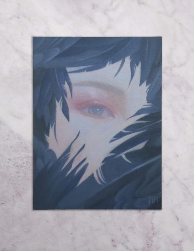 Photograph of Daydreamer original painting by Miranda Meeks