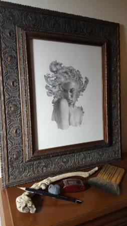 Allen Williams graphite Dryad