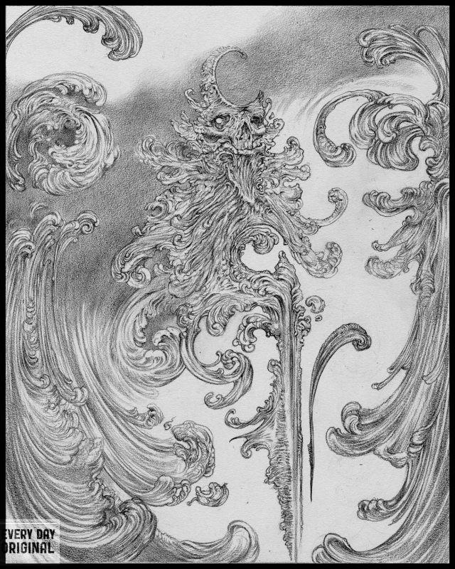 Allen Williams The Scribe graphite original
