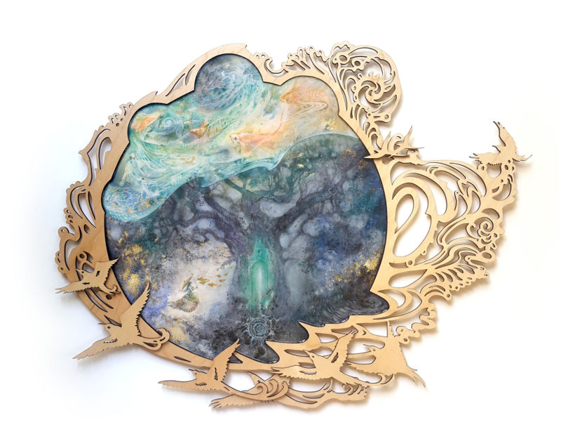 Seeking by Stephanie Law (framed)