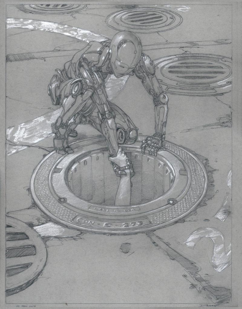 Donato Reach Pencil drawing