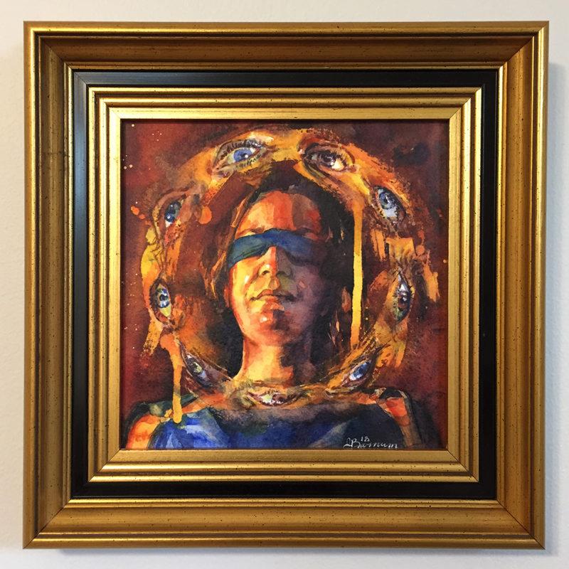 """Justice"" by Joanna Barnum, Framed"