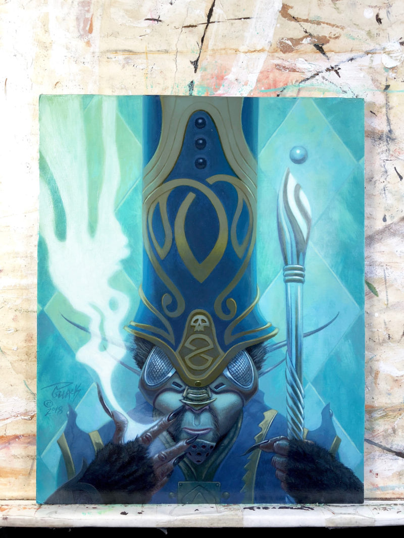 The Mystic of Devonia original oil painting