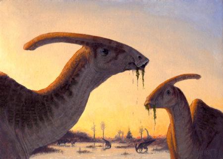 """""""Parasaurolophus"""" by Owen William Weber"""