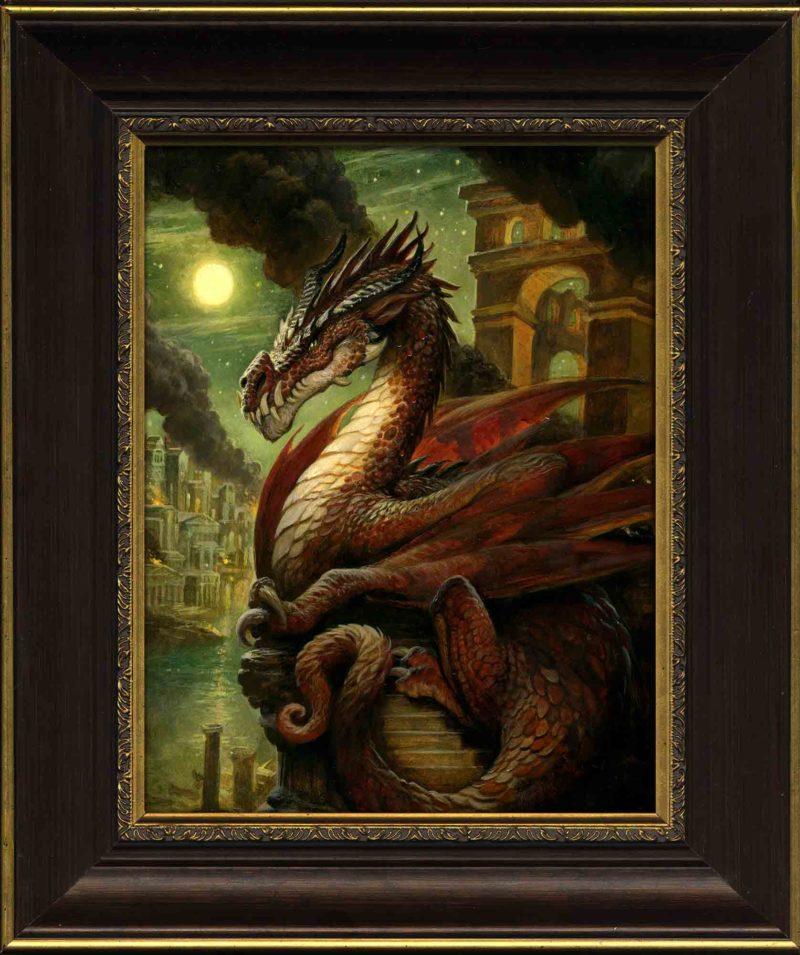 Justin Gerard EDO Auctions Fire Dragon Frame