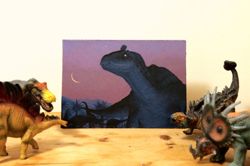 cryolophosaurus in wild