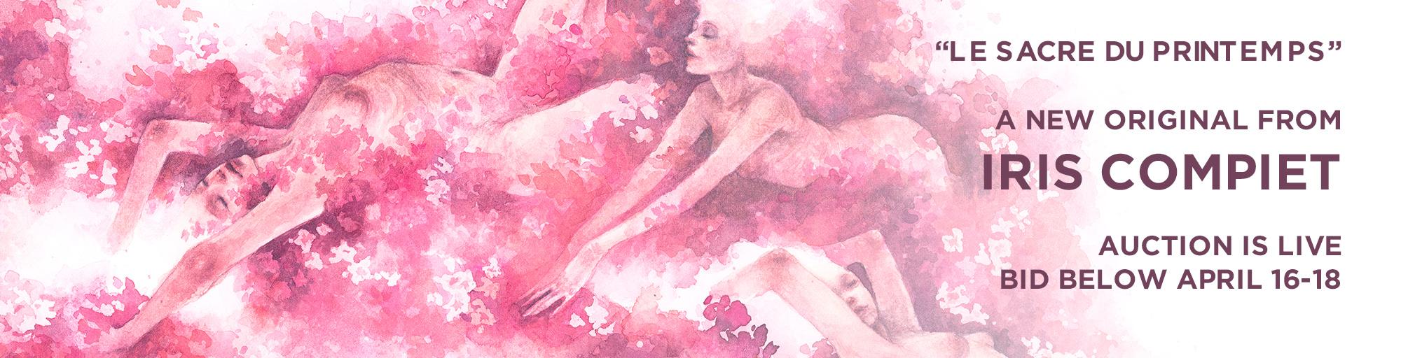 Le Sacre du printemps, a watercolor original by Iris Compiet